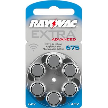 Batterie Rayovac Extra Advanced mod. 675 PR44 Colore Blu