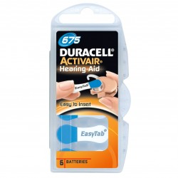 Pile Duracell Activair Misura 675 PR44 Colore Blu